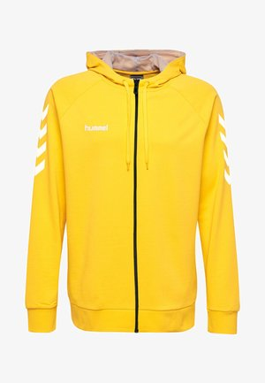 HMLGO - Zip-up hoodie - yellow