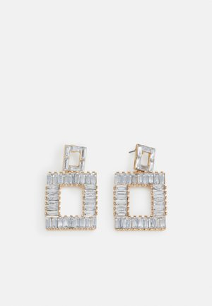 PCMERIELA EARRINGS - Øredobber - gold-coloured/clear