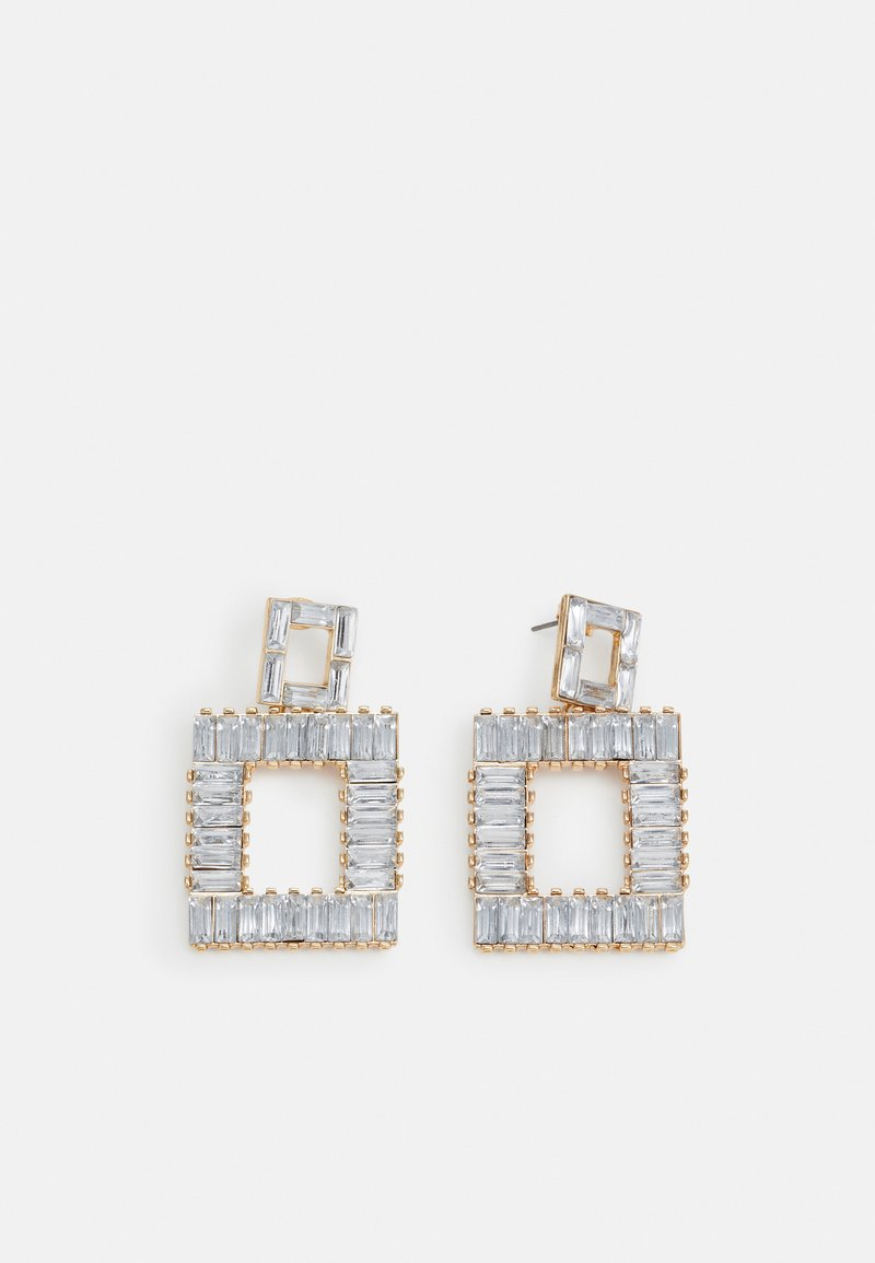 Pieces - PCMERIELA EARRINGS - Náušnice - gold-coloured/clear