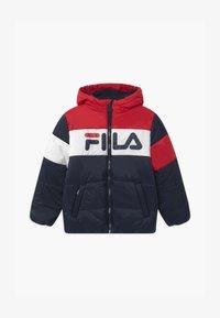 Fila - LYNN PUFF UNISEX - Winter jacket - black iris/true red/bright white - 0
