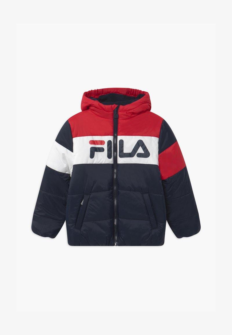 Fila - LYNN PUFF UNISEX - Winter jacket - black iris/true red/bright white