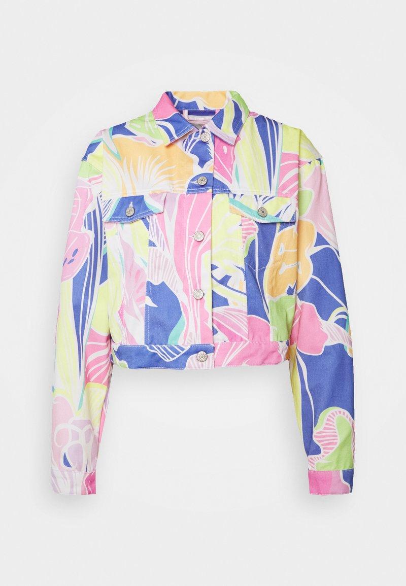 Jaded London - CROPPED JACKET - Džínová bunda - multi-coloured