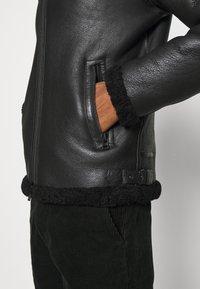 Goosecraft - LAMMY - Kožená bunda - black - 6