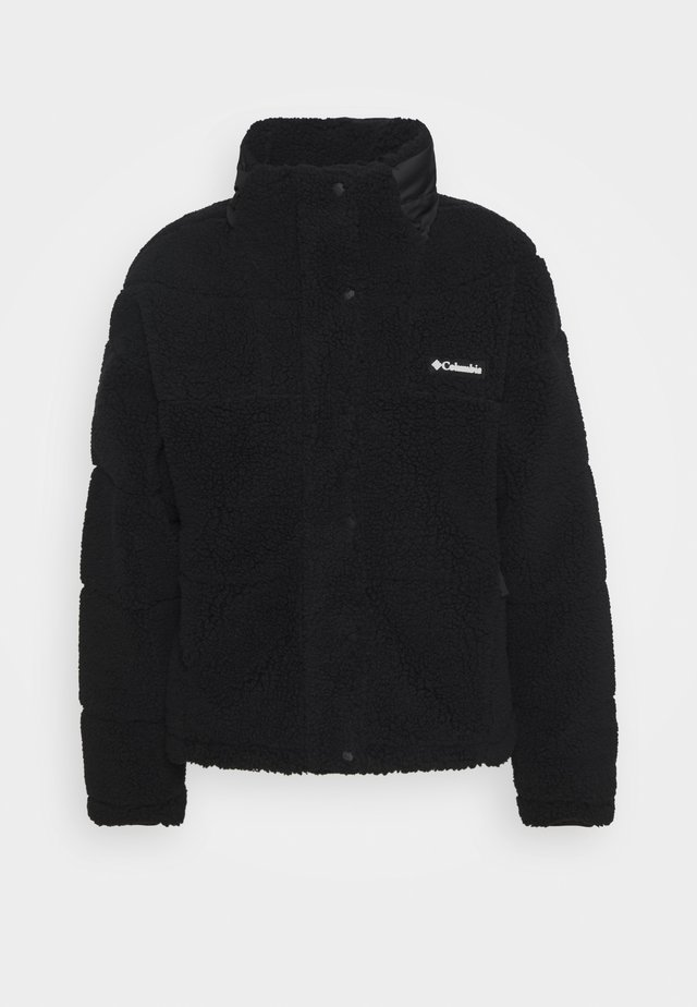 LODGEBAFFLED SHERPA - Fleecejas - black