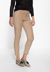 Amor, Trust & Truth - SLIM FIT - Trousers - beige - 0