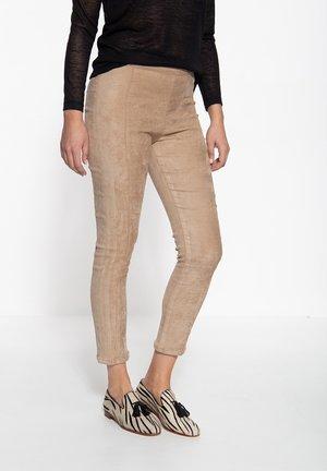 SLIM FIT - Trousers - beige