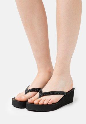 GLAM HI - T-bar sandals - black
