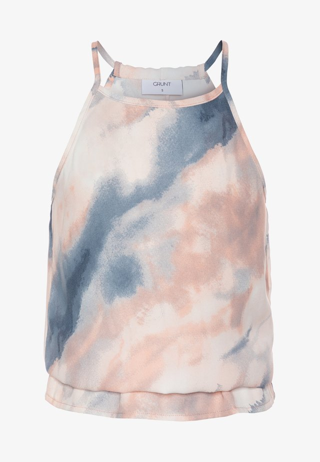AVIS TIE DYE - Top - light pink/blue