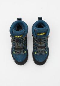 CMP - KIDS RIGEL MID SHOE WP UNISEX - Obuwie hikingowe - blue ink/yellow - 3