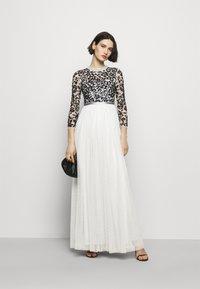 Needle & Thread - SEQUIN RIBBON LONG SLEEVE BODICE DRESS - Suknia balowa - crystal blue - 1