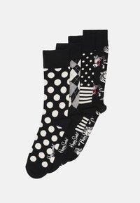 Happy Socks - SOCKS GIFT SET 4 PACK - Socks - black/white - 0