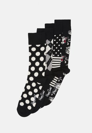 SOCKS GIFT SET 4 PACK - Strumpor - black/white