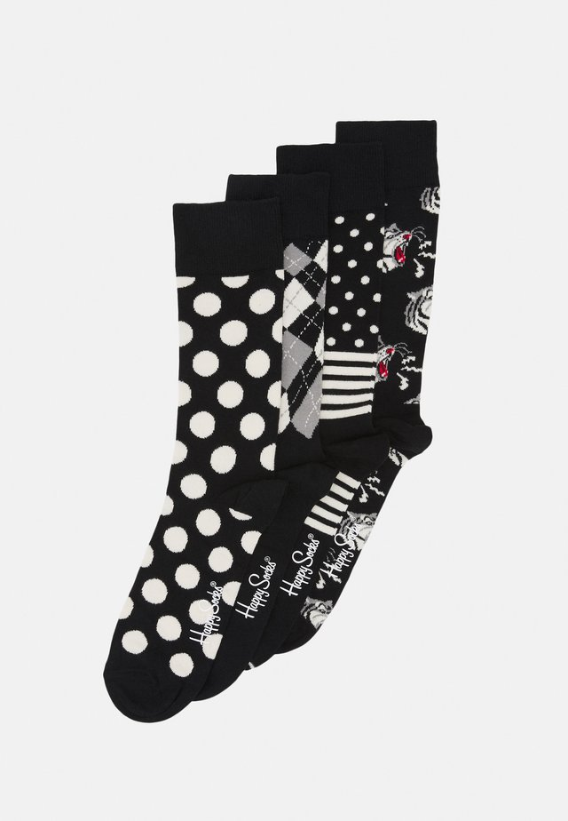 SOCKS GIFT SET 4 PACK - Strømper - black/white
