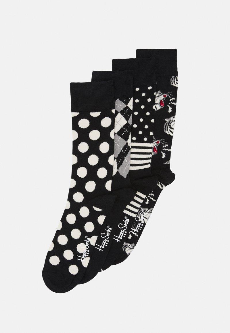 Happy Socks - SOCKS GIFT SET 4 PACK - Socks - black/white