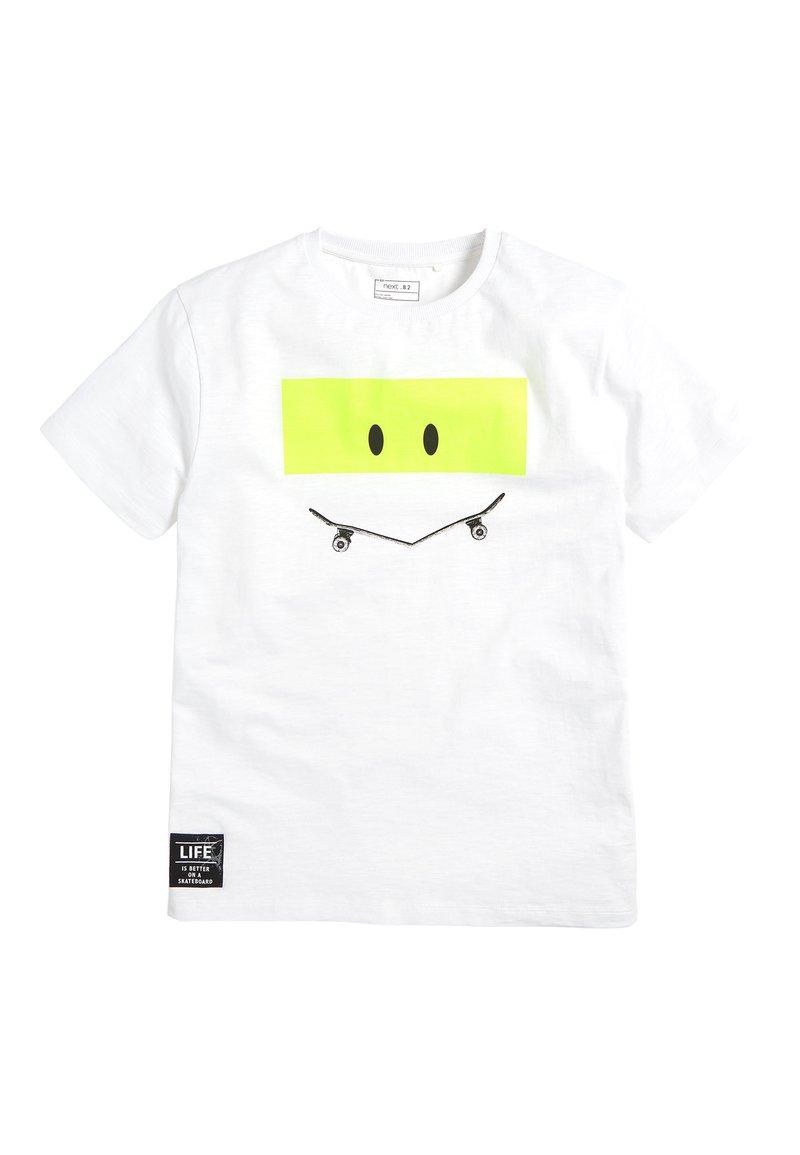 Next - SKATEBOARD - Print T-shirt - white
