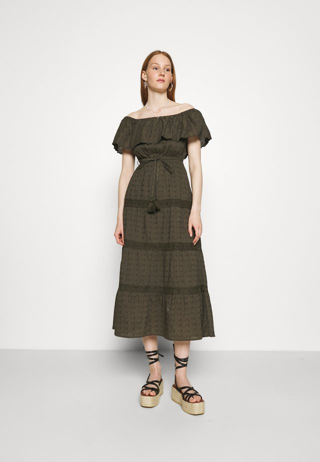 BRODARIE BARDOT DRESS - Vestito estivo - khaki