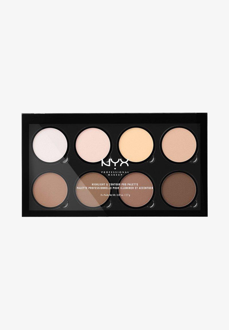 Nyx Professional Makeup - HIGHLIGHT & CONTOUR PRO PALETTE - Face palette - -