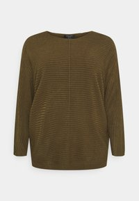 New Look Curves - EXPOSED SEAM CASH BAWTING - Jumper - khaki - 5