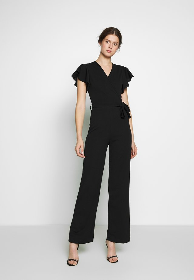 CAP SLEEVE - Jumpsuit - black