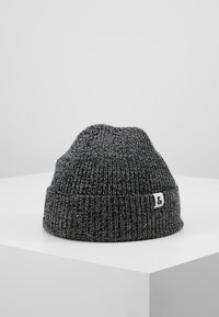 Jack & Jones - JACTWISTED SHORT BEANIE - Muts - black/grey melange - 0