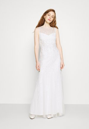 HALTER BEADED GOWN - Occasion wear - ivory