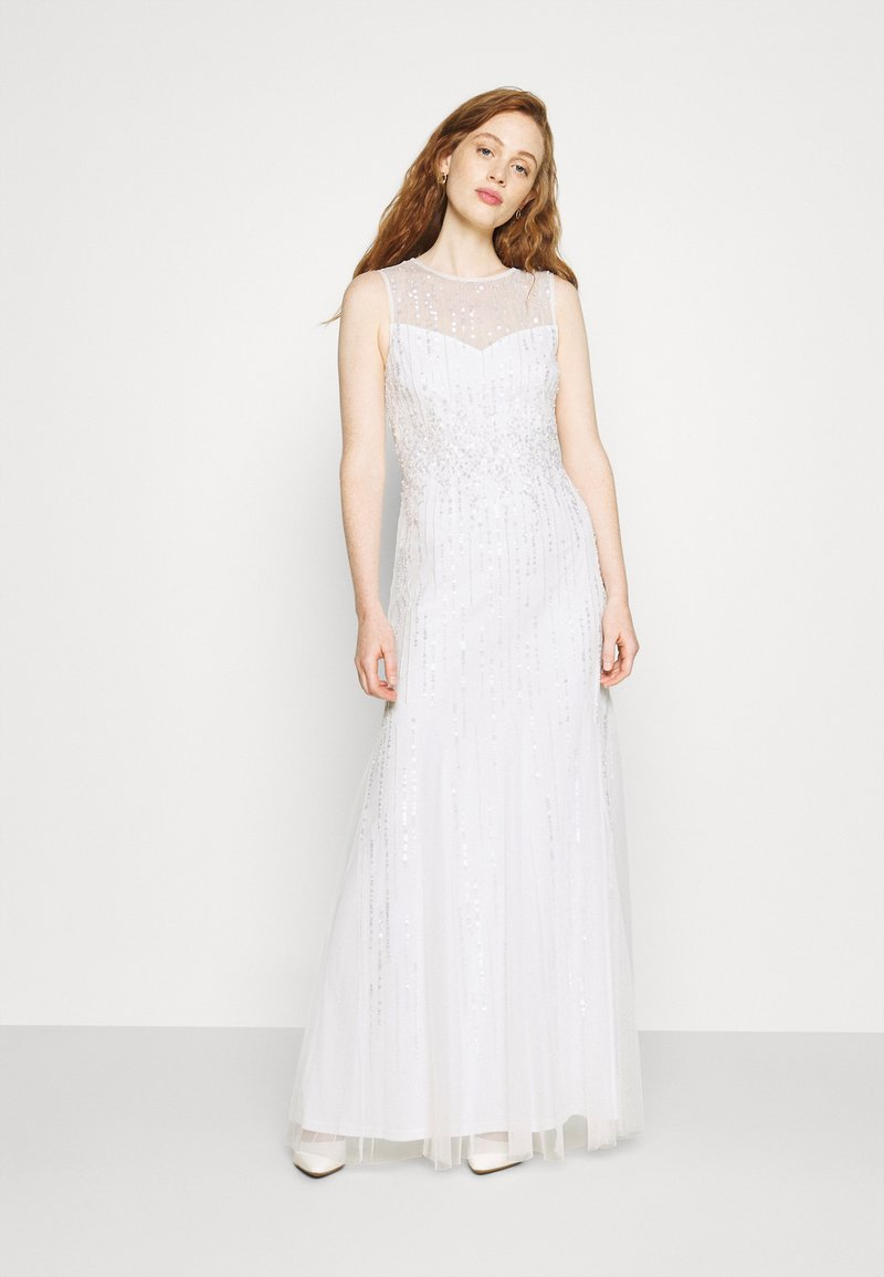 Adrianna Papell - HALTER BEADED GOWN - Occasion wear - ivory
