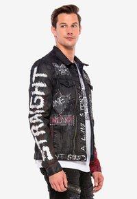 Cipo & Baxx - MIT NIETEN - Denim jacket - black - 4