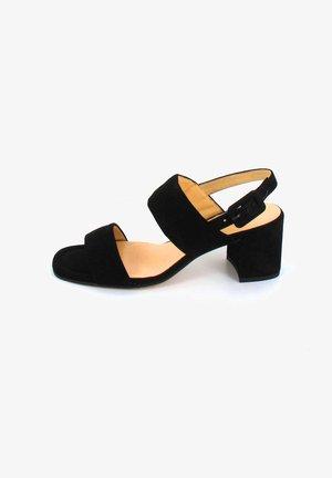 PURE - Sandaalit nilkkaremmillä - schwarz