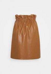 Vila - VIJOSEP SHORT ZIPPER SKIRT - A-line skirt - toffee - 1