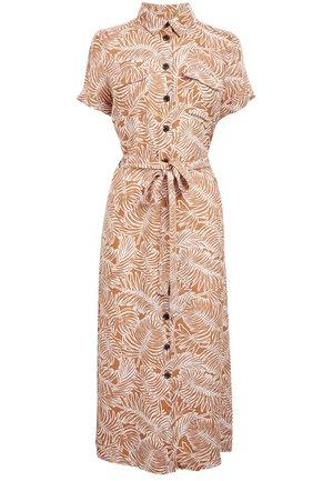 MONOCHROME PRINT  - Shirt dress - brown