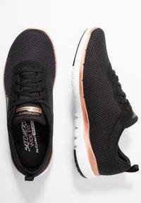 Skechers Wide Fit - WIDE FIT FLEX APPEAL 3.0 - Zapatillas - black/rose gold - 3