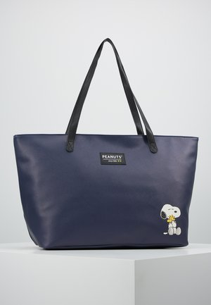 SNOOPY FOREVER FAMOUS SHOPPER - Tote bag - dark blue