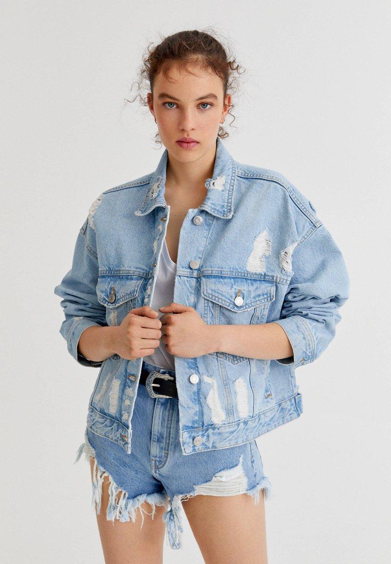 PULL&BEAR - Denim jacket - light blue
