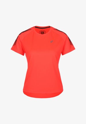 Basic T-shirt - flash coral / performance black