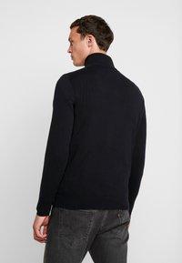 Esprit - HALF ZIP - Stickad tröja - black - 2