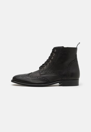 HOCKLEY BROGUE BOOT - Lace-up ankle boots - black