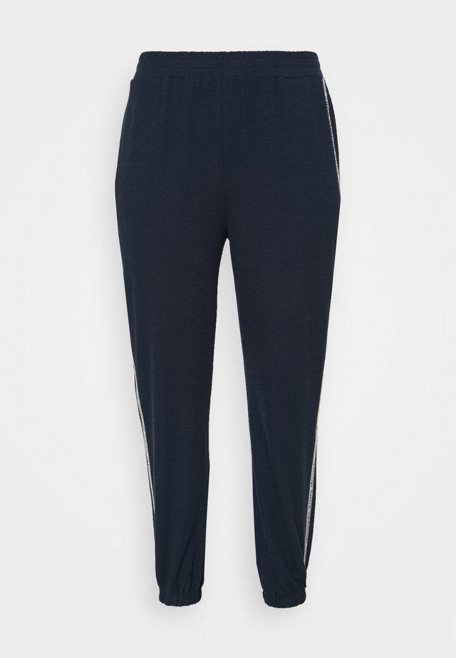 LOGO TAPE - Teplákové kalhoty - midnight blue