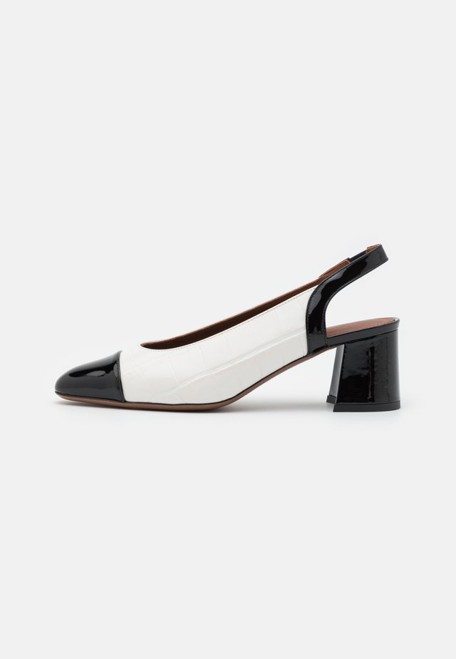 SLING BACK - Decolleté - black/milk