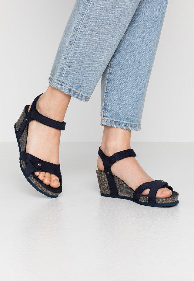 JULIA BASICS - Wedge sandals - dunkelblau