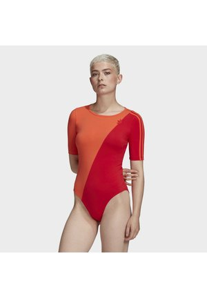 ADICOLOR SLICED TREFOIL BODYSUIT - Body - red