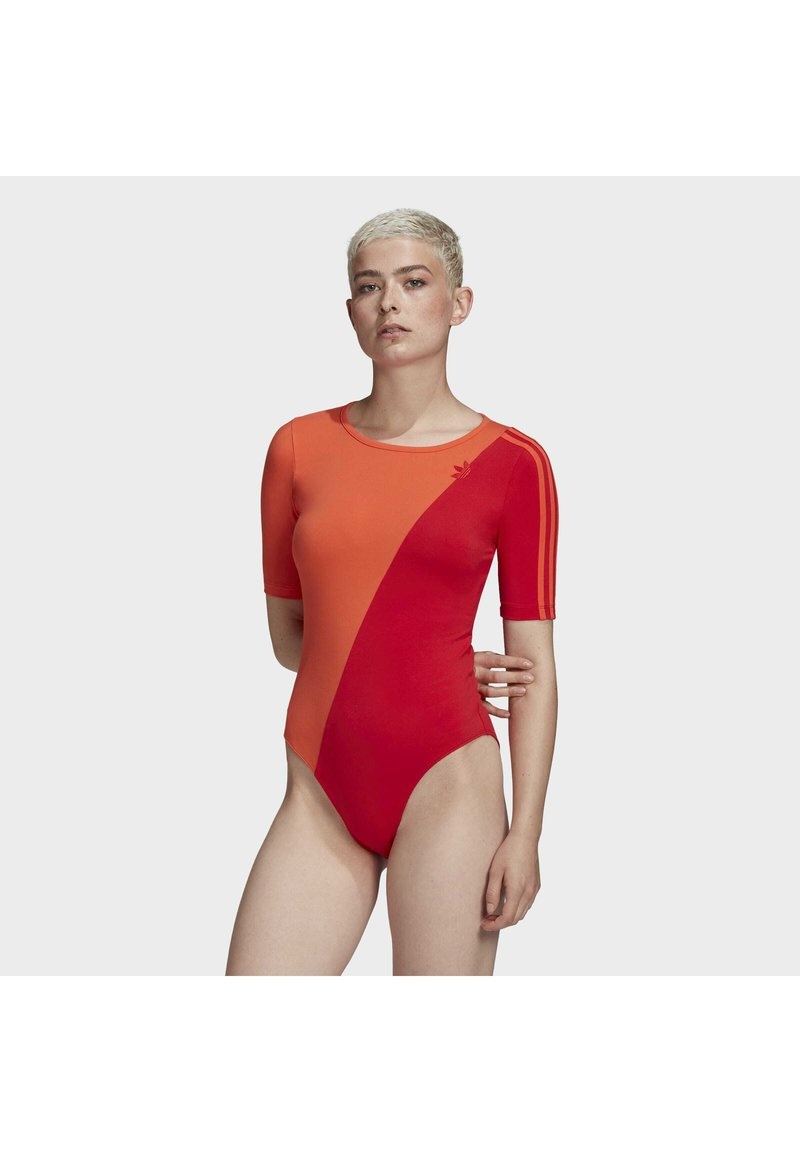 adidas Originals - ADICOLOR SLICED TREFOIL BODYSUIT - Print T-shirt - red