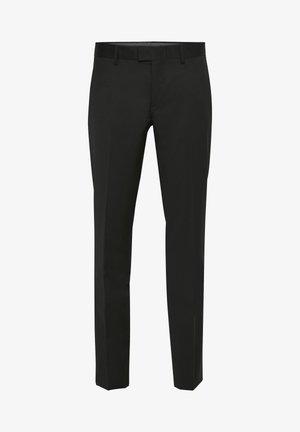 LAS - Suit trousers - black
