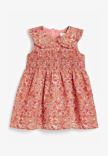 SHIRRED COLLAR - Day dress - pink