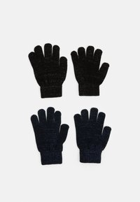 Name it - NKFMAGIC GLITTER GLOVES 2 PACK UNISEX - Rękawiczki pięciopalcowe - black/dark sapphire - 0