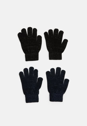 NKFMAGIC GLITTER GLOVES 2 PACK UNISEX - Rukavice - black/dark sapphire