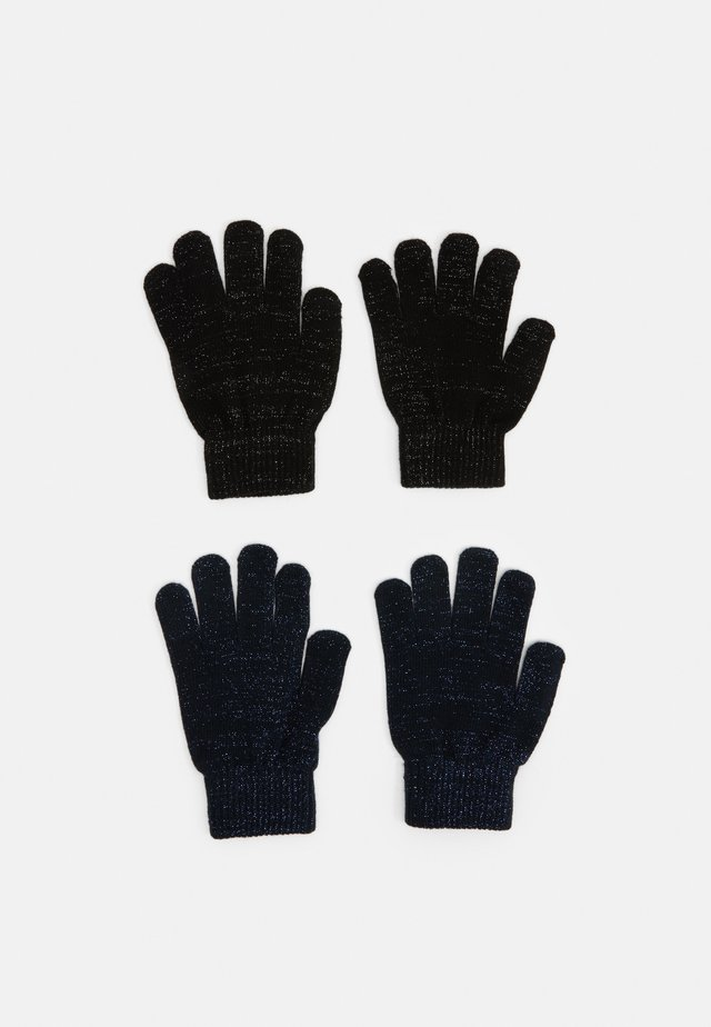 NKFMAGIC GLITTER GLOVES 2 PACK UNISEX - Gants - black/dark sapphire