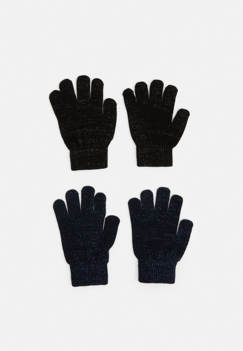 Name it - NKFMAGIC GLITTER GLOVES 2 PACK UNISEX - Rukavice - black/dark sapphire