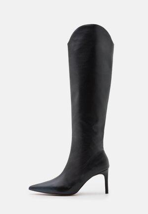 POINTY SHAFT BOOTS - Kozačky nad kolena - black