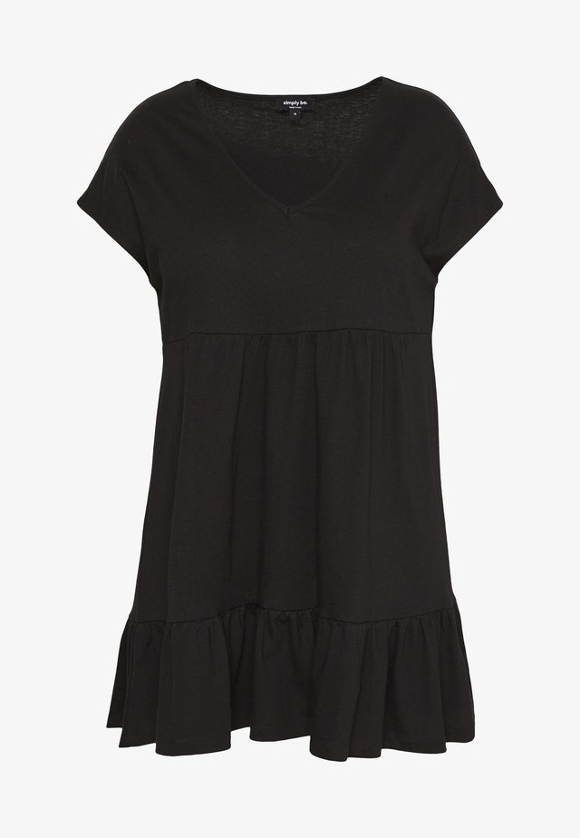 TIERED TUNIC - Tunika - black