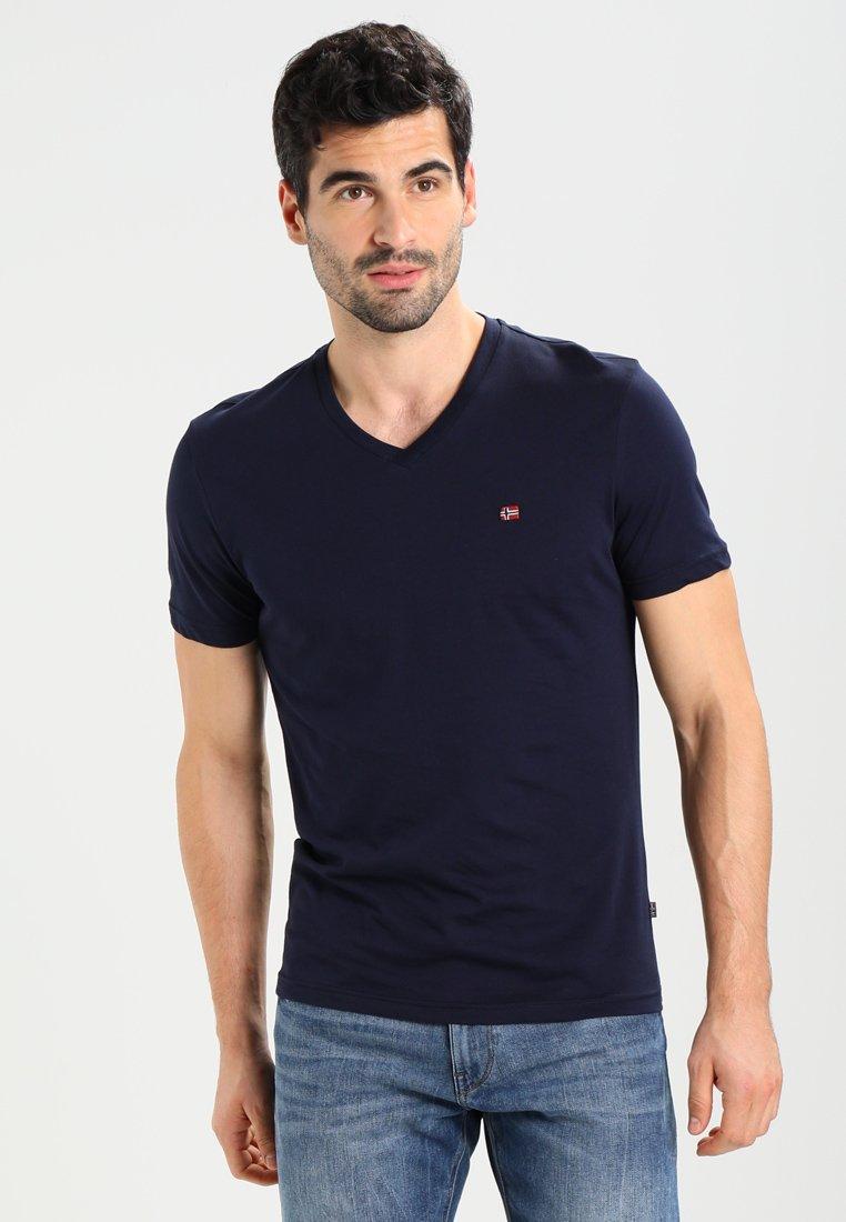 Napapijri - SENOS V - T-shirt basic - blu marine